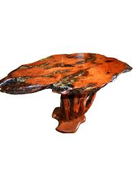 end table made from mesquite wood with turquoise inlay from