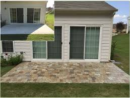 How Thick For Concrete Patio Paver Overlay