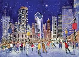 skaters at millennium park chicago business cards