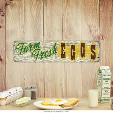 farm fresh eggs rustic metal sign country kitchen signs