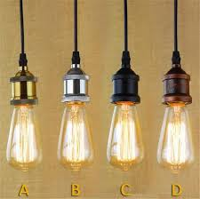Edison Pendant Light Loft Hanging L Socket Vintage Edison Pendant Lights Retro Black
