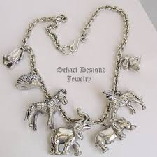 sterling silver charms necklace images Susan cummings for iwlf endangered species animal sterling silver jpg