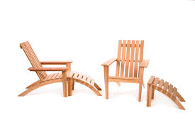 Patio Chair With Ottoman Set Adirondack Easybac Chair And Ottman Set By All Things Cedar