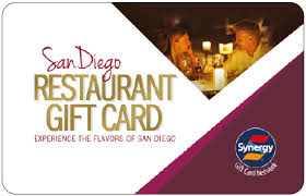 restaurant gift card welcome san diego gift card processed by synergy world inc