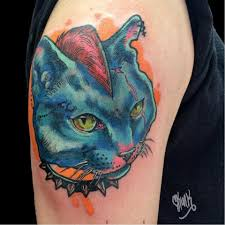 28 cool and vibrant cat tattoos for kitty lovers tattoodo