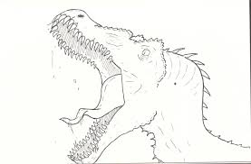 dinosaur sketch by thorex on deviantart