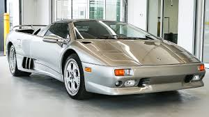 silver lamborghini diablo overview of the legendary 1998 lamborghini diablo vt roadster
