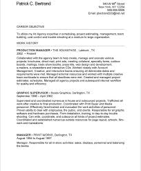 Auto Mechanic Sample Resume by Redoubtable Production Manager Resume 8 Sample Resume For