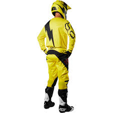 fox motocross gear combos 2018 fox racing 180 mastar gear kit yellow sixstar racing