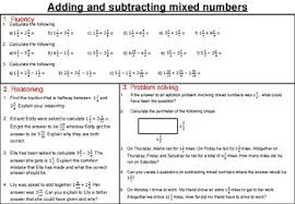 adding and subtracting mixed number fractions mastery worksheet