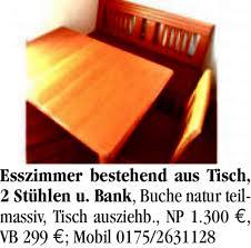 Esszimmer Gebraucht Zu Verkaufen Sonstiges Hausrat Möbel Sauerlandkurier