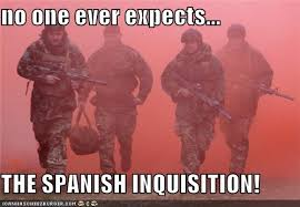 Spanish Inquisition Meme - image 242309 nobody expects the spanish inquisition know your