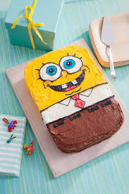 spongebob cake ideas spongebob birthday cake recipe nickelodeon parents
