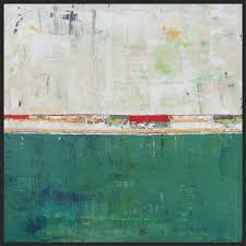 Abstract Landscape Painting by Limerick Green Abstract Landscape Art Painting 36x36 Shawn Mcnulty