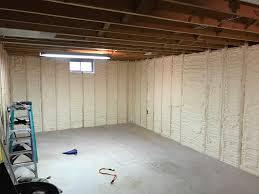 Spray Foam Insulation For Basement Walls by Basement Wall Spray Foam Insulation In Stevens Point Wi Oakwood