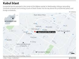Kabul Map Kabul Bombing Kills 80 Mda Touts Anti Missile Success Will Trump