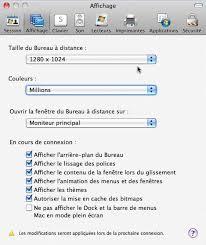connexion bureau a distance connexion bureau à distance pour mac réglages du mac