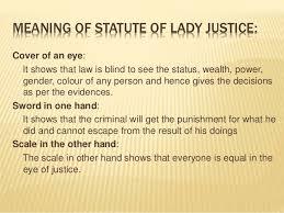 Blind Justice Meaning Case Studies