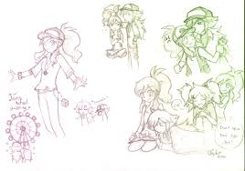 ferriswheelshipping sketches by firehorse6 on deviantart