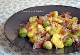 cuisiner les choux de bruxelles recette de tortellini et choux de bruxelles poêlés au lard et