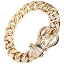 large link necklace images Hermes large buckle gold curb link chain bracelet at 1stdibs jpg