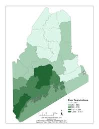 Maine County Map State Of Big Game Species State Of Maine U0027s Environment 2014
