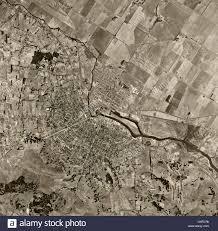 Petaluma Ca Map Historical Aerial Photograph Petaluma California 1952 Stock Photo