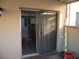 wonderful tempered glass sliding door blinds with white frame