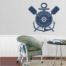 personalized decals high style wall decals personalized nautical logo