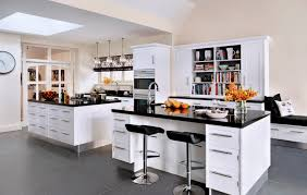 contemporary kitchen wooden island lacquered hand painted