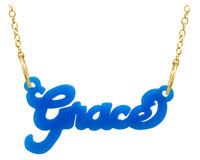 acrylic name necklace cut out monogram necklace nameplate necklace