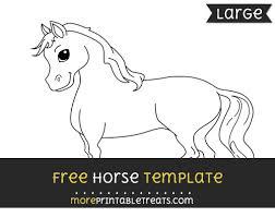 horse template u2013 large
