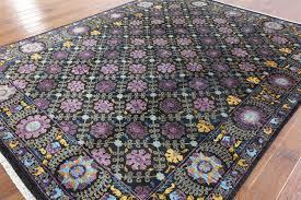 Lilac Rug 8 X 10 All Over Design Handmade Persian Suzani Rug Mc127
