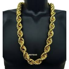 gold plated necklace images 14k gold plated necklace rope chain 36 quot inch length big fat thick jpg