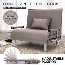 Folding Rollaway Bed Portable Folding Rollaway Bed Sofa With Mattress Taupe Crazy Sales