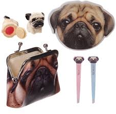 pug dog gift set in a purse for girls ideal christmas or birthday