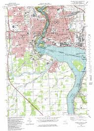 Lake Placid Florida Map by Niagara Falls Topographic Map Ny Usgs Topo Quad 43079a1