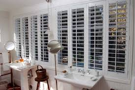 Lighting For Bathroom Interior Wall Mounted Sink With White Graber Shutters Also
