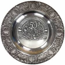 50th anniversary plate engraved 50th anniversary wedding plate