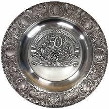 anniversary plates 50th anniversary 50th anniversary wedding plate