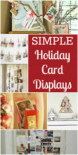 simple holiday card display ideas the shopping mamathe