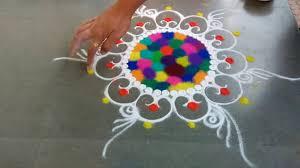 rangoli patterns using mathematical shapes easy rangoli designs youtube