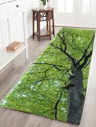 tree water absorption flannel antiskid rug green inch in bath