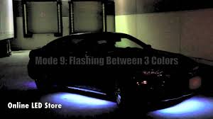 led lights for cars store 7 color under car led neon light with sound active mode youtube
