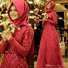 muslim wedding party sleeved muslim wedding dresses embroidered beading