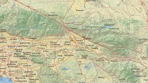 Map Of San Bernardino California Preliminary Magnitude 3 1 Earthquake Shakes San Bernardino Area