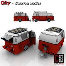 camper van lego custombricks de lego city anhänger wohnwagen caravan fahrzeug