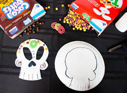 dia de los muertos kids craft diy sugar skull mask new mom in a