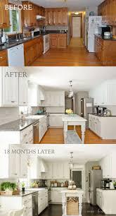 oak wood chestnut shaker door white cabinets in kitchen backsplash