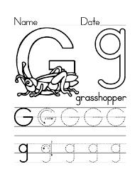 trace letter g worksheets activity shelter